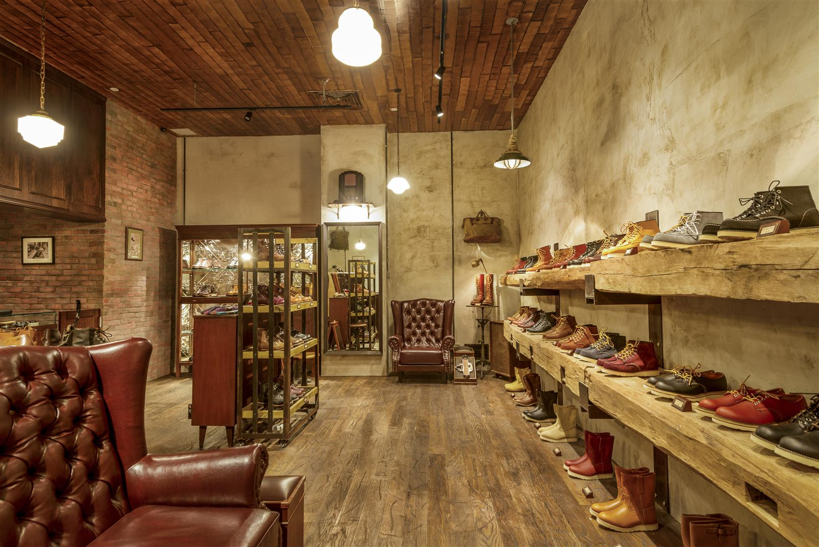 red wing shoe store for the working men. Black Bedroom Furniture Sets. Home Design Ideas