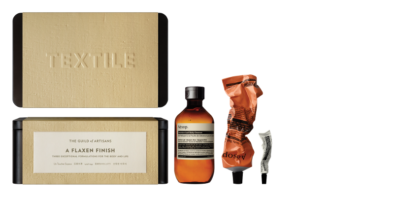 AESOP-GIFT-KITS-2014-2015-A-FLAXEN-FINISH-WITH-PRODUCT-(TEXTILE)-C