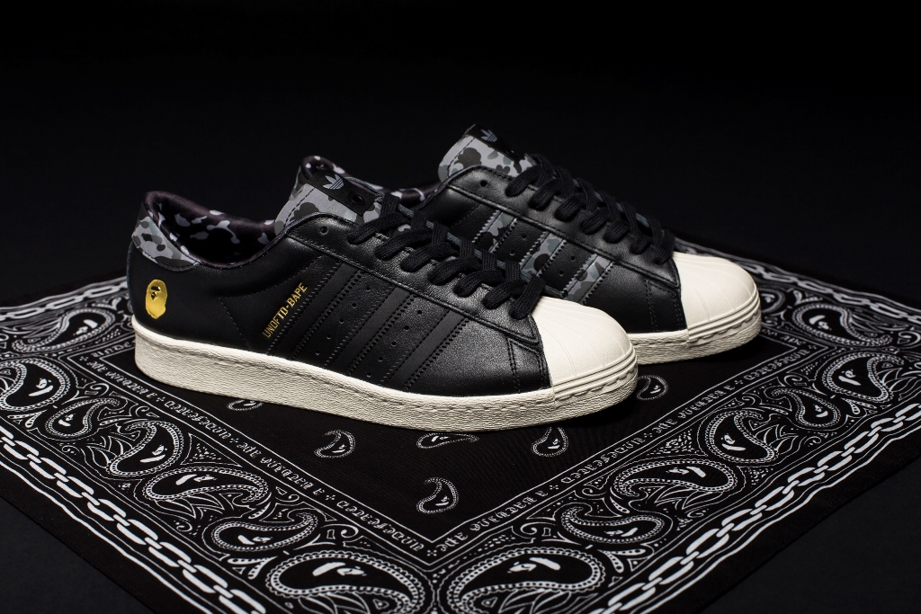 new arrival 6fee7 49f89 Retailing at RM499, adidas Consortium Superstar 80v UNDFTD x BAPE will be  launched on Saturday 18 April 15 at JUICE KL.