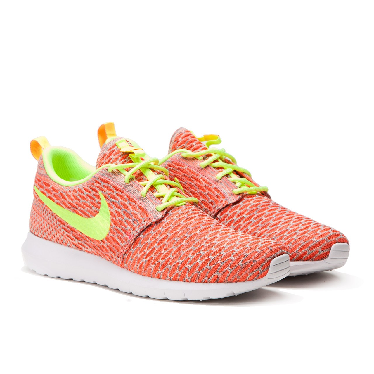 nike flyknit roshe run hot lava volt orange. Black Bedroom Furniture Sets. Home Design Ideas