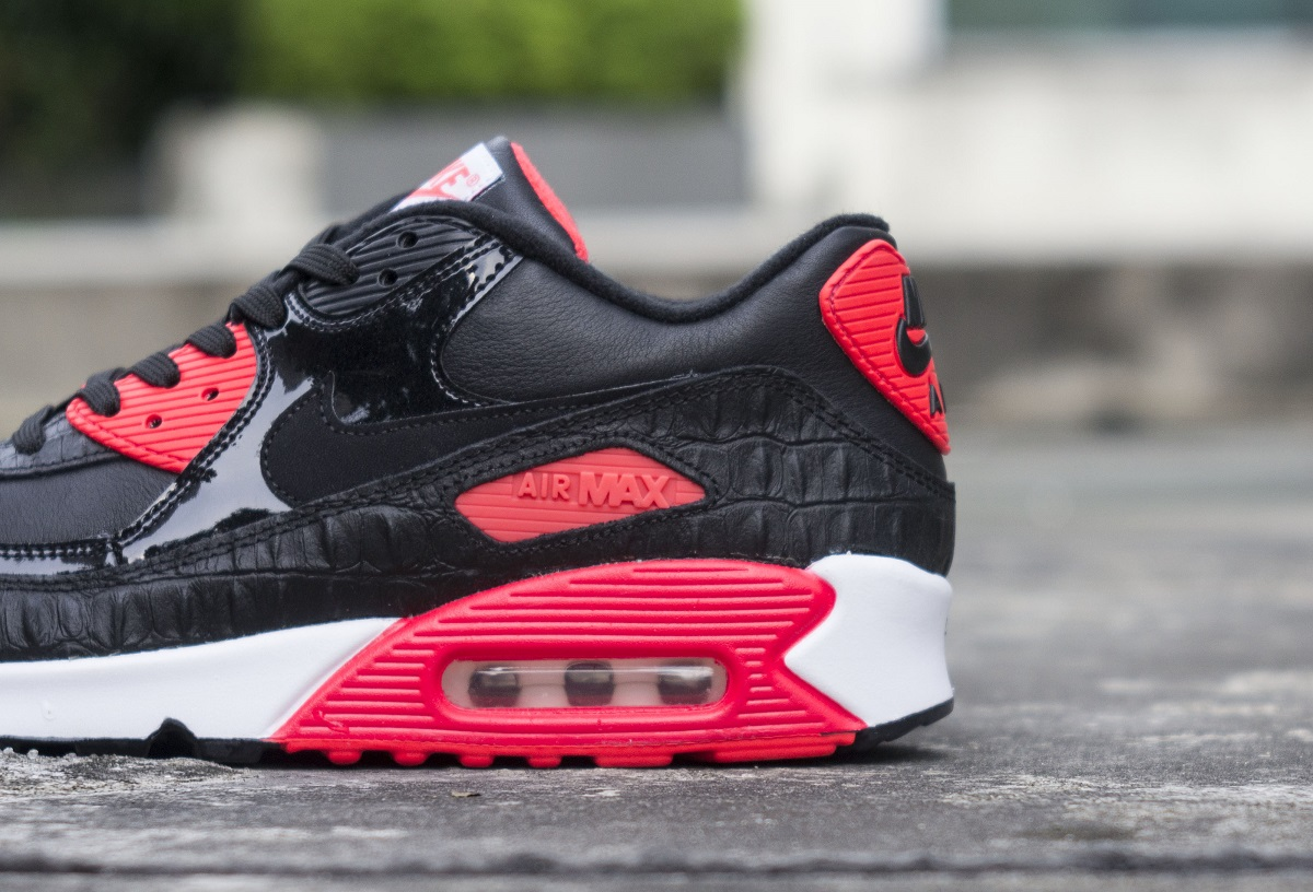best service e3d95 bd4ad The Nike Air Max 90  Infrared Croc  is priced at RM599 and will be  available at Sole What The Gardens Store on 30 May.