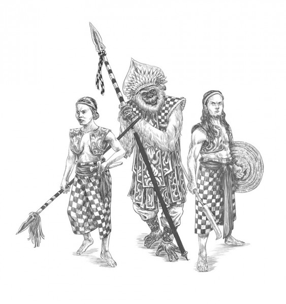 balinese warriors
