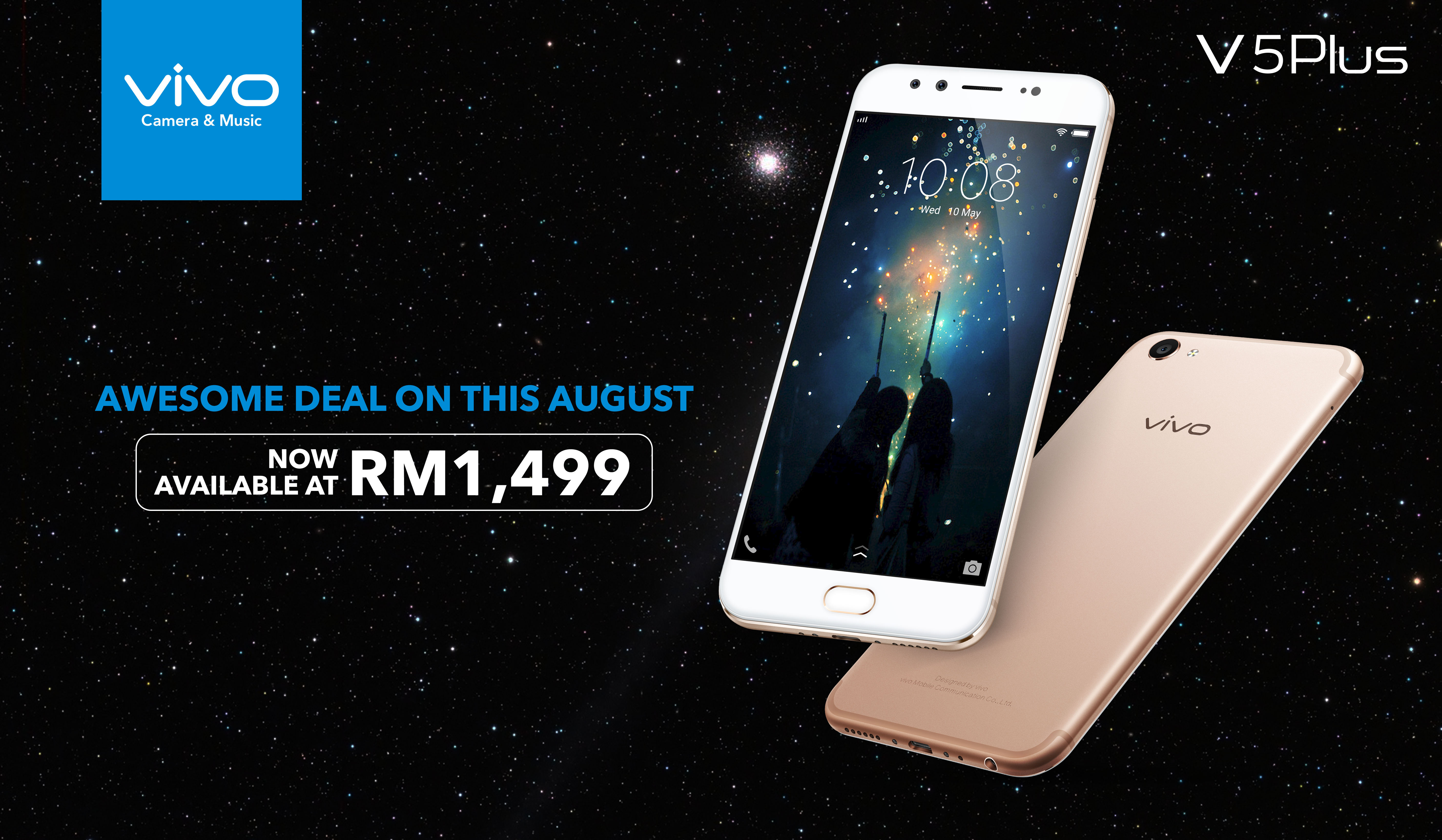 Vivo Is Offering Great Deals This Merdeka Month V5 Plus 4 64gb Rose Gold Last But Not Least A Lucky Draw Where Everyone Can Stand Chance To Win Some Goodies From Celebrate Malaysias 60th National Day Any Purchase