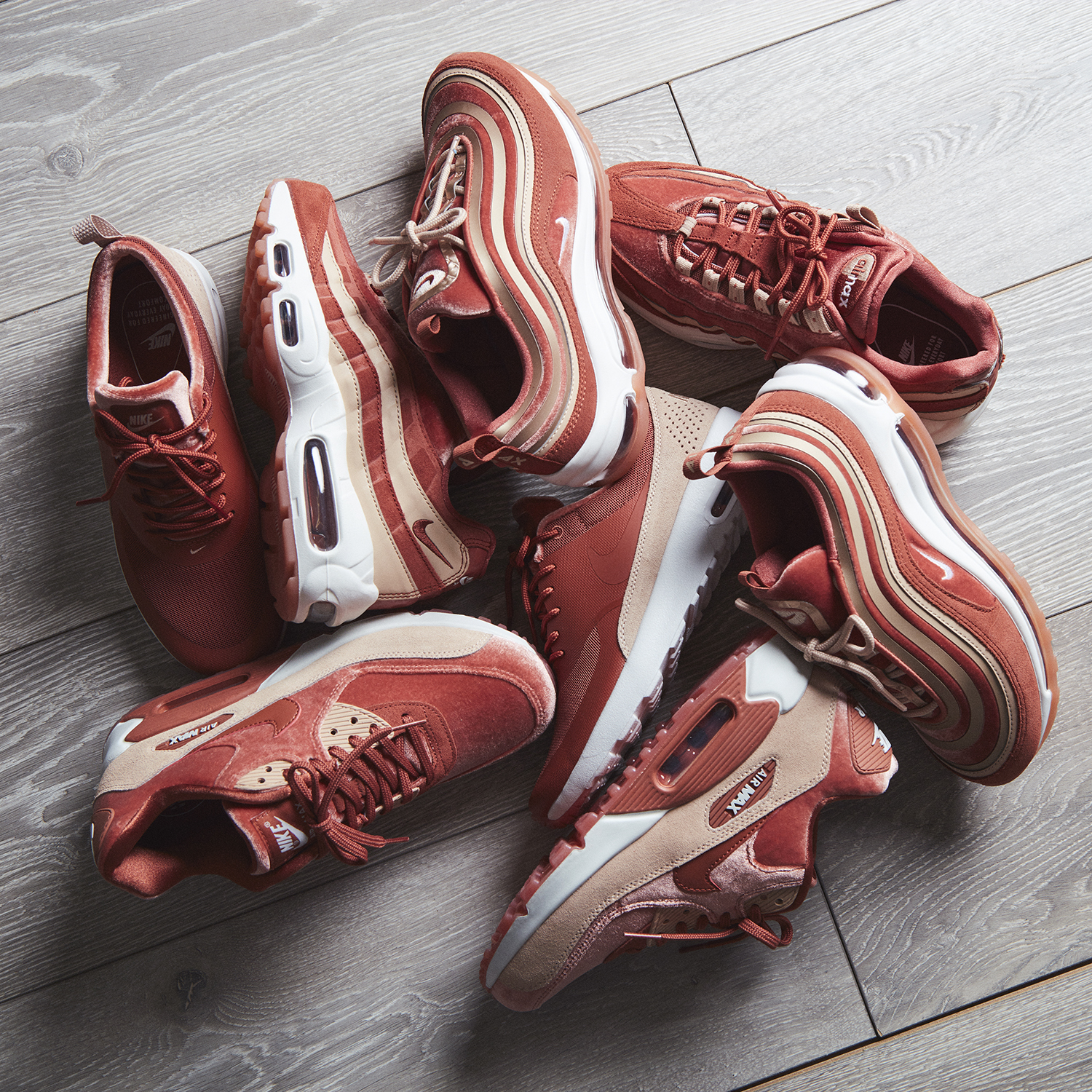 ad44380eaf The latest Nike Air Everywhere pack features the OG Air Max 97, Air Max 95,  Air Max 90 and Air Max Thea; each pair constructed with lightweight textile  ...