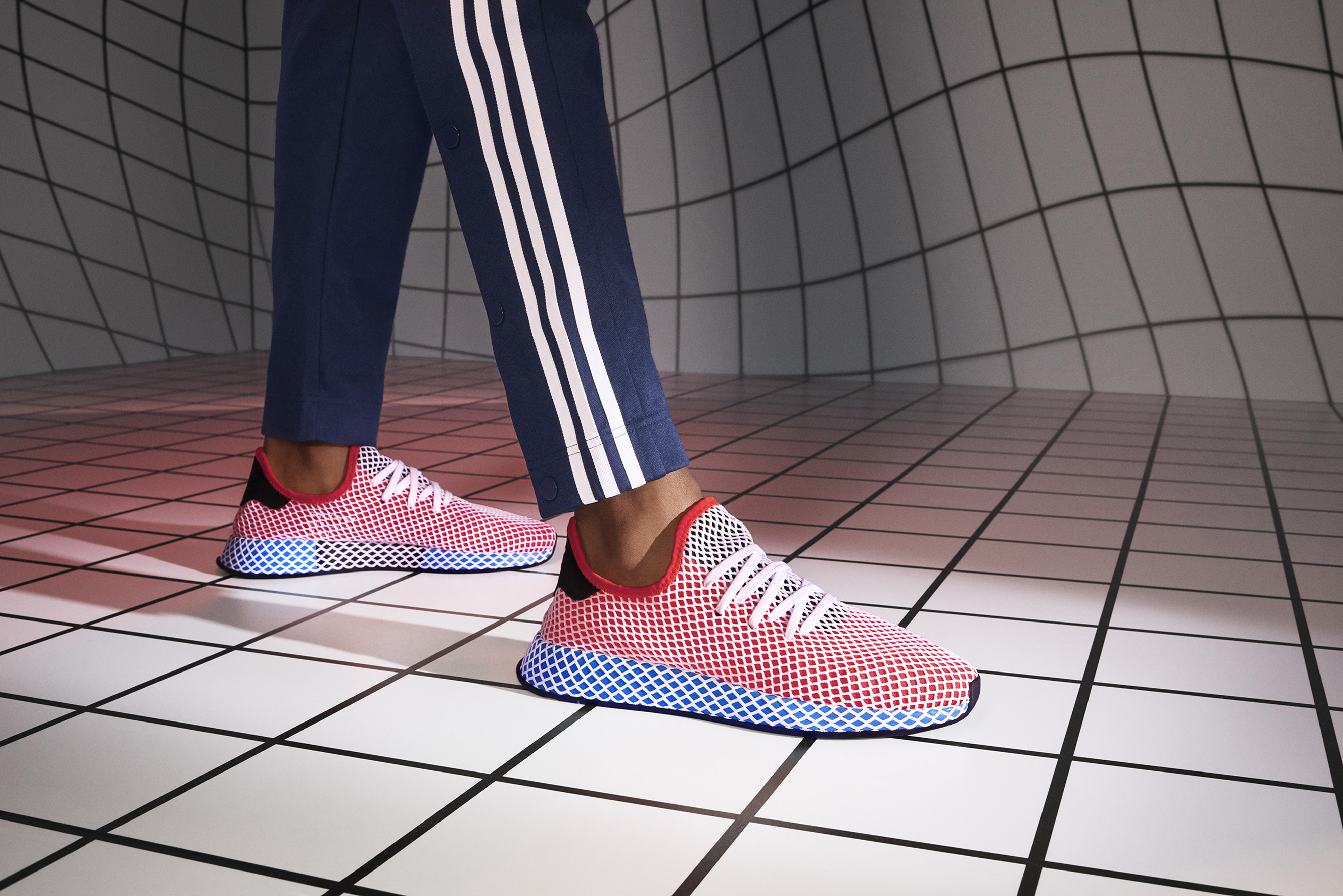 premium selection aa7d7 e5b19 The sneaker was initially featured in adidas running silhouettes in the 80s  and once a key feature on the New York runner and Marathon Training shoe.