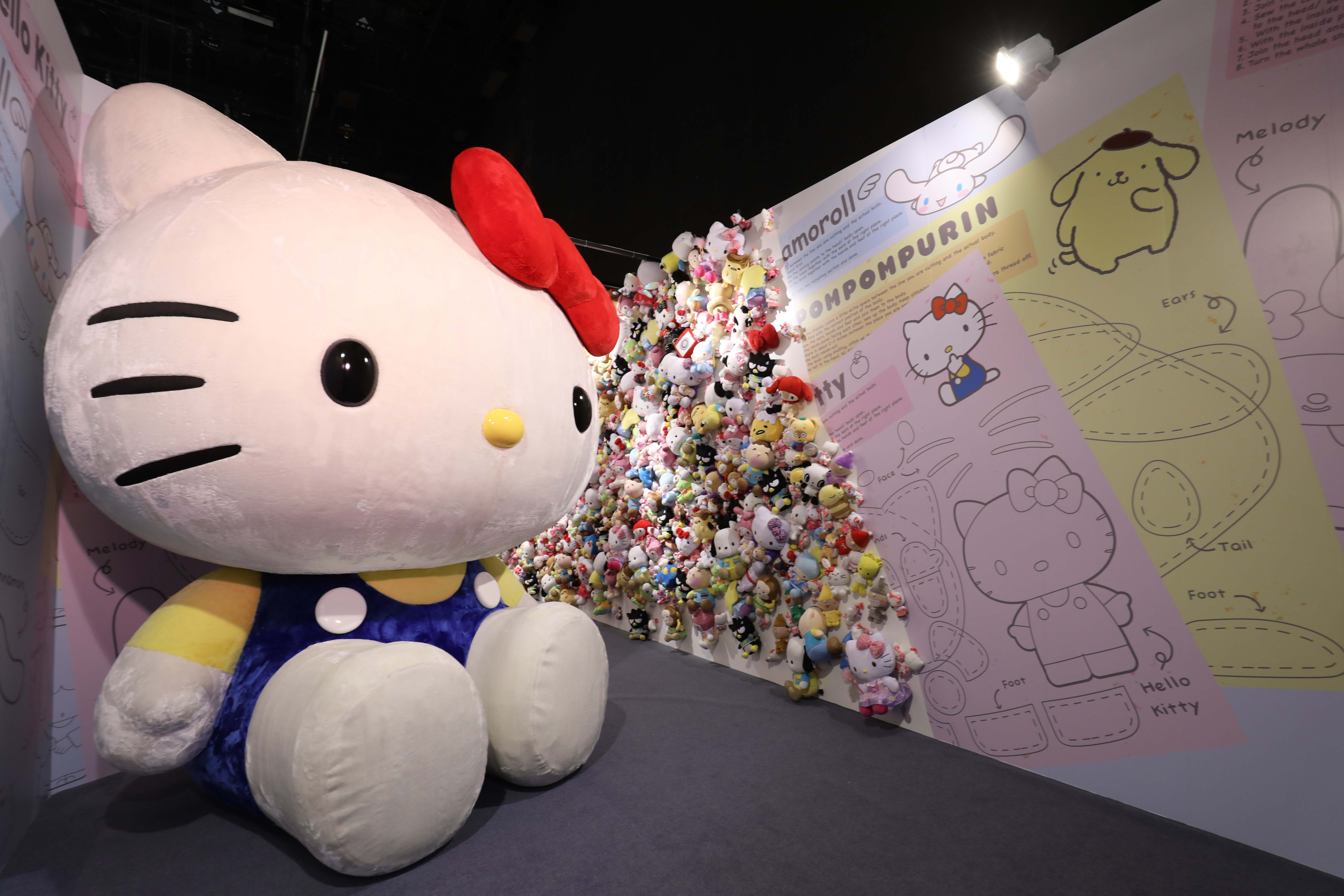 7842c2a52 As you make your way through the exhibition, you'll come across the largest  and cutest Hello Kitty plushy in the world! It's one of those rare times  when ...